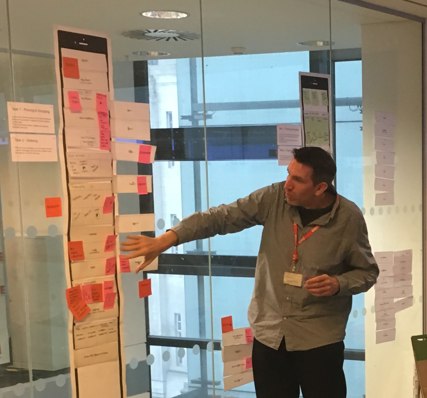 Pruning, Grouping and Ordering content workshop with Editorial and Product stakeholders to define the content strategy for the BBC News homepage